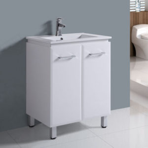 600mm Freestanding Gloss White Bathroom Furniture