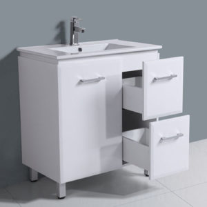 750mm Freestanding Gloss White Bathroom Furniture