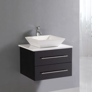 Small Bathroom Above Counter Wall Hung Vanity Cabinet