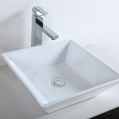 Above Counter MDF Wall Mounted Vanity Quartz Top