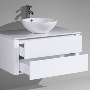 Wall Mounted MDF Vanity Push To Open Drawers