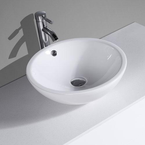 Gloss White MDF Vanity Push To Open Drawers
