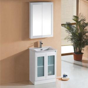 Gloss White Finger Pull Vanity Bathroom Furniture