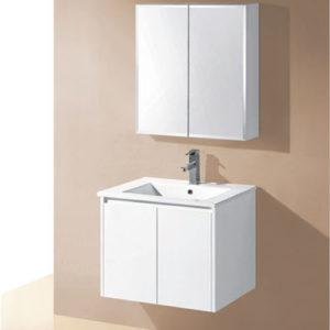 600mm Wall Hung Finger Pull Vanity Bathroom Cabinet