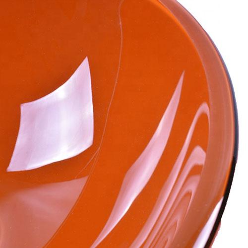 Round Orange Glass Bowl Vessel Sink