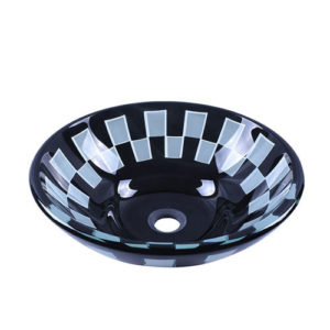 Round Double Layer Glass Bowl Basin Sink