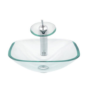Square Glass Bowl Transparent Clear Chinese Manufacturer