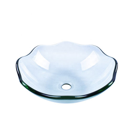 Lotus Glass Bowl Transparent Clear Chinese Factory