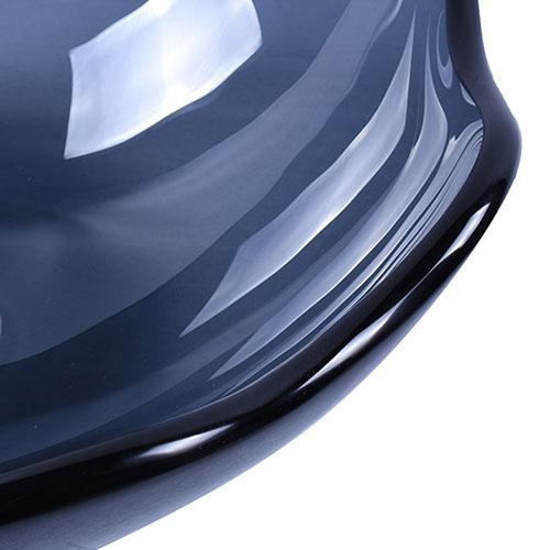 Lotus Glass Bowl Transparent Grey Glass Basin