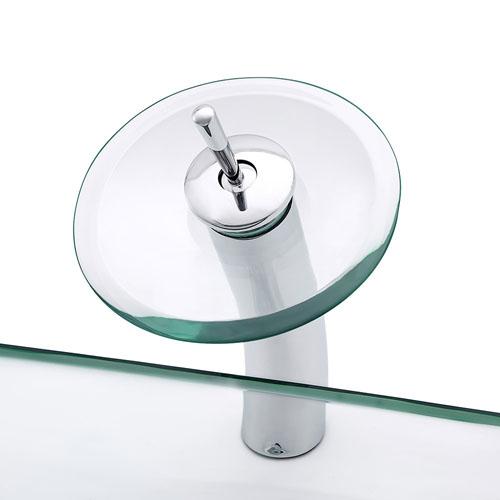 Rectangular Glass Basin Transparent Clear China Factory