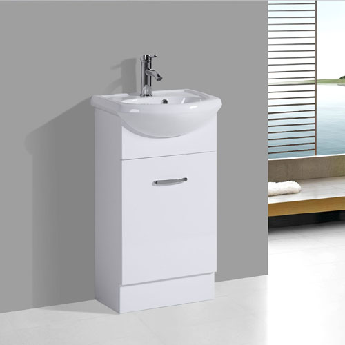 450mm Small Semi-Recessed Bathroom Vanity Furniture