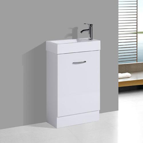 Tiny Vanity For Small Bathroom Polymarble Basin