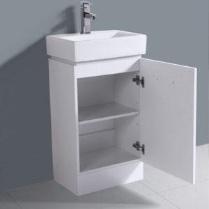 450mm Compact Gloss White Vanity Bathroom Furniture