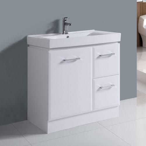 Thick Ceramic Basin Right Hand Drawer Vanity Set