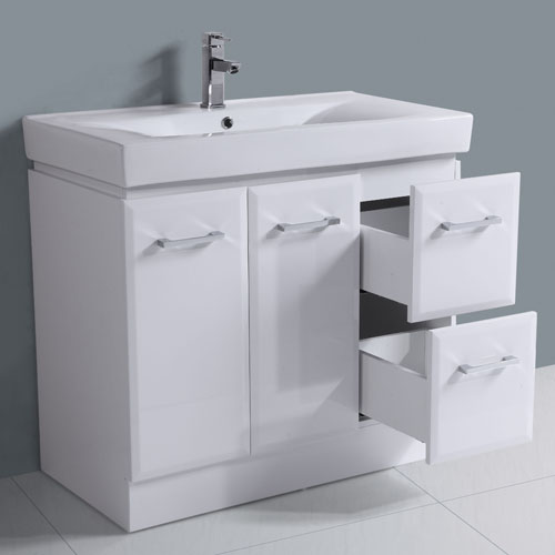 Thick Ceramic Sink Right Hand Drawer Vanity Set