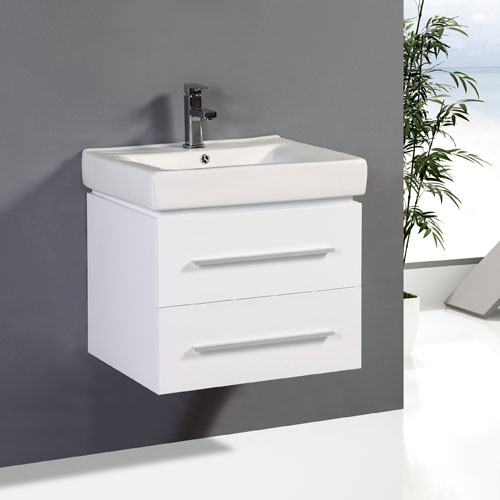 Two Soft Close Drawer Vanity Unit Wall Hung