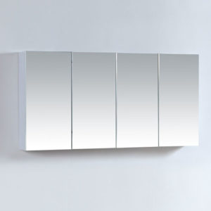 1200mm Four Doors Mirror Cabinet Gloss White