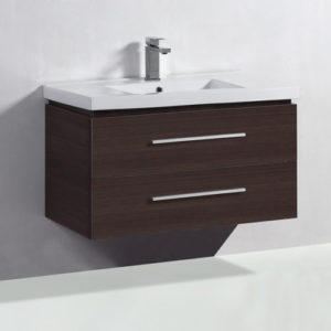 Melamine Covered Floating Vanity Unit 900mm Wall Hung