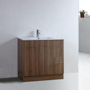 Melamine Finished Floor Vanity Set 900mm Bathroom Cabinet