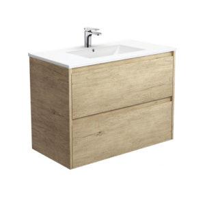 Paint Free Wood Grain 900mm Vanity Unit Bathroom Furniture