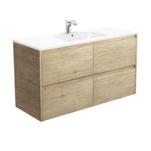 Paint Free Wood Grain 1200mm Vanity Set Bathroom Cabinet