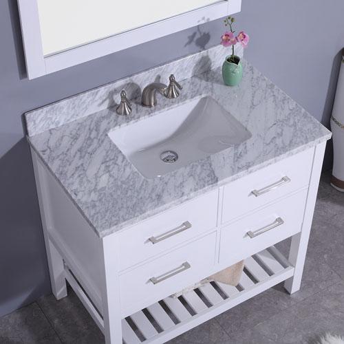 Bathroom Vanity Set Marble Top Undermount Ceramic Sink