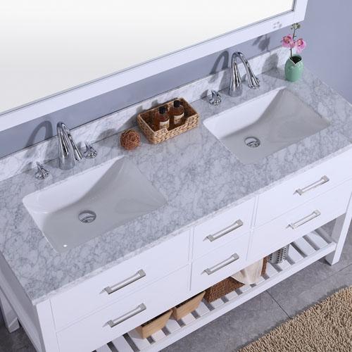 1500mm Vanity Set Marble Top Double Undermount Sink