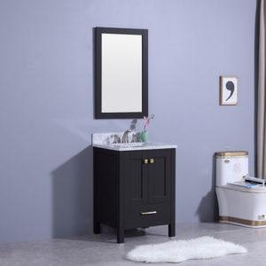 Compact Freestanding Vanity Small Bathroom Space
