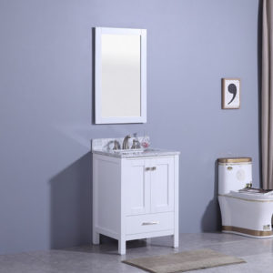Compact Floor Standing Vanity Small Bathroom Space