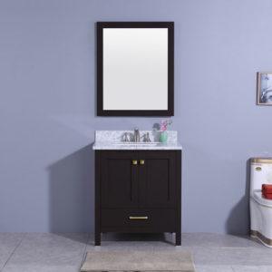 North American Style Bathroom Vanity Unit Matt Black
