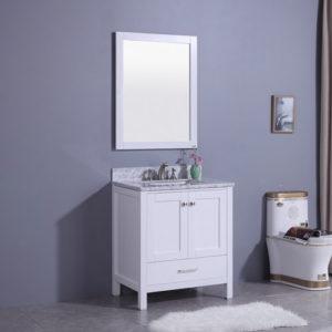 Canadian Style Bathroom Vanity Set Matt White