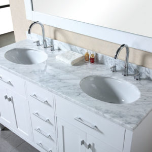 Traditional 1500mm Vanity Double Under Counter Basin