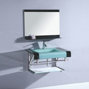 Square Glass Sink Made In China Tempered Basin