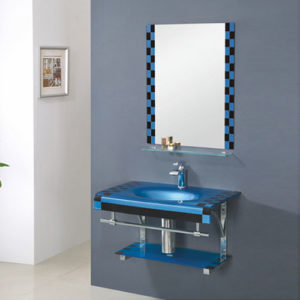 800mm Oval Glass Sink Tempered Basin