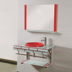 Lavamanos de Vidrio con Espejo Fabrica China