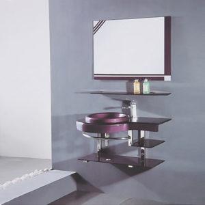 Lavamanos de Cristal con Espejo Fabricante China