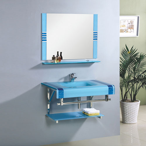 Sky Blue Glass Sink Made In China Exporter