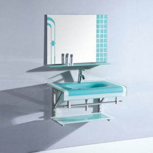 Sky Blue Glass Basin Made In China Supplier