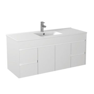 Handle Free Wall Hung Finger Pull Vanity