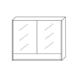 Shaving Cabinet 900mm Two Doors One Undershelf