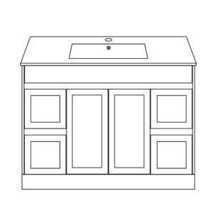 Shaker Bathroom Furniture 48inch Freestanding