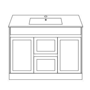 Shaker Bathroom Furniture 1200mm Floor Standing