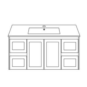 Shaker Style Doors Drawers White Vanity